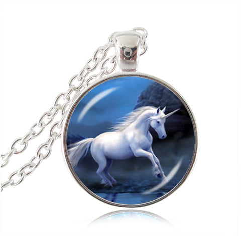 """Unicorn"" Horse Pendant Necklace"
