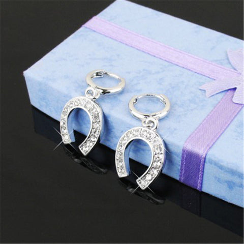 Double Horseshoe Crystal Earrings