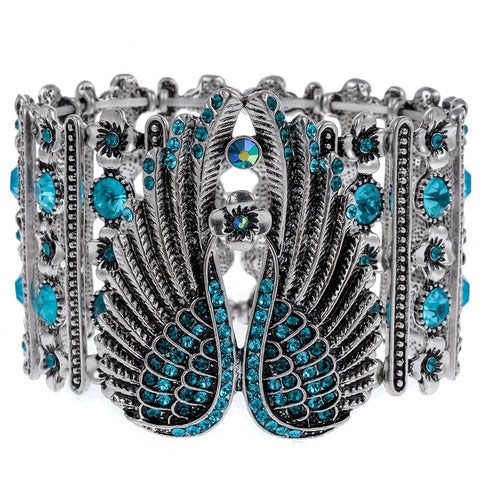 Angel Wings Crystal Stretch Bracelet (5 Colors)