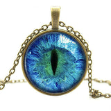 """Cat Eye"" Pendant Necklace (8 Colors)"