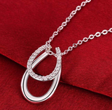 Double Horseshoe Silver Pendant Necklace