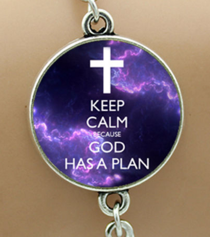 """Keep Calm - God Has A Plan"" Bracelet"