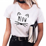 """Cat Ears & Whiskers MEOW"" T-Shirt (3 Colors)"