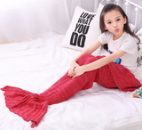 """Little Mermaid Tail"" Knitted Blanket (9 Colors)"