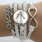 Horse Love & Infinity Bracelet (3 Colors)