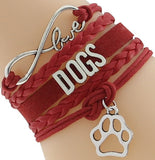 Dog Love & Infinity Charm Bracelet (4 Colors)