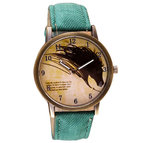 Silhouette Stallion Horse Watch (9 Colors)