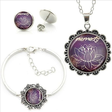 "Yoga ""Namaste"" Violet Jewelry Set"