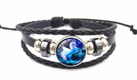"""Unicorn"" Horse Leather Bracelet"