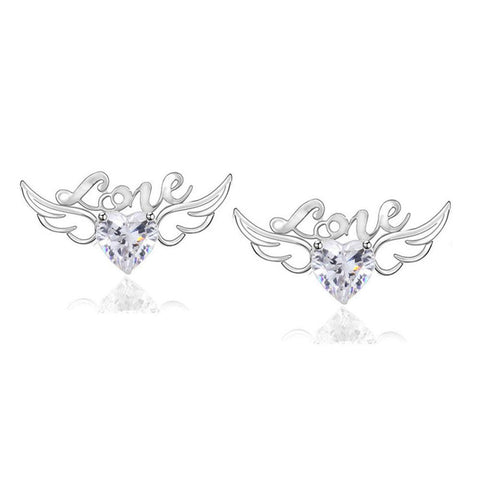 Heart Angel Wings & Love Earrings (3 Colors)