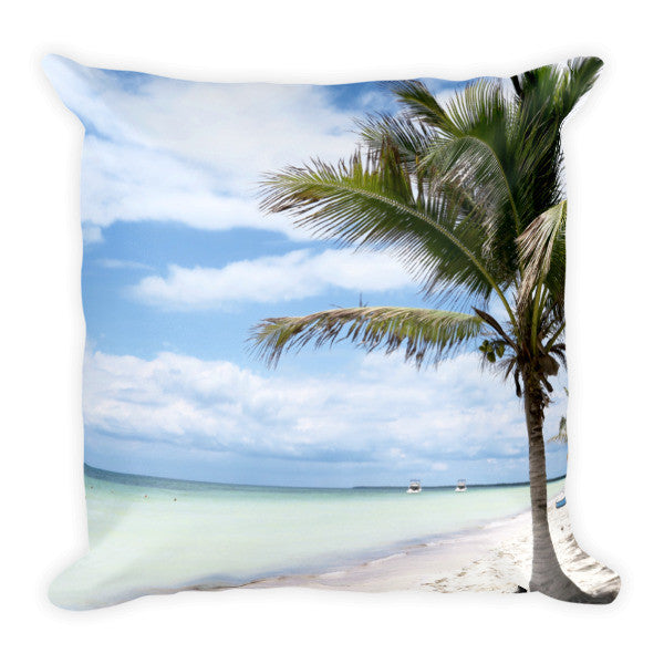 breezy swirls throw pillow