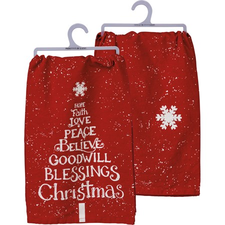 Blessings Christmas Tree Towel (103874)