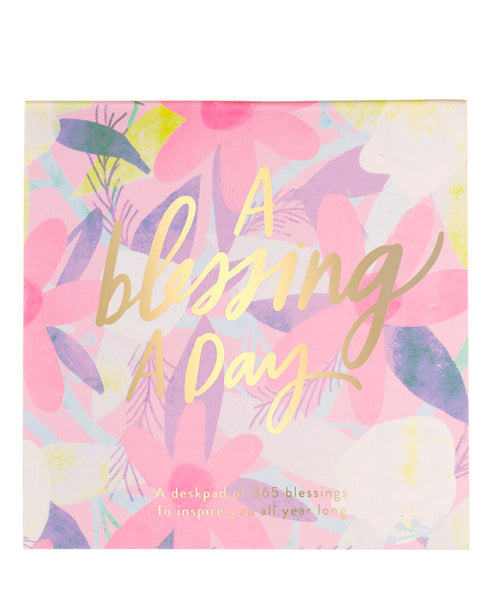 A Blessing A Day Square Desk Pad