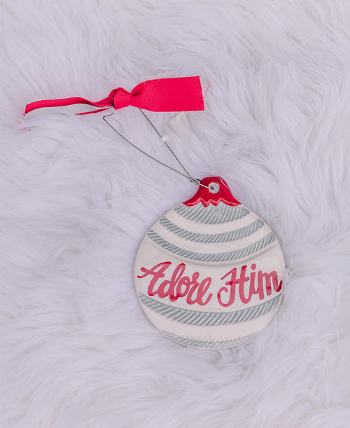 Adore Him Ceramic Ornament (9733992)