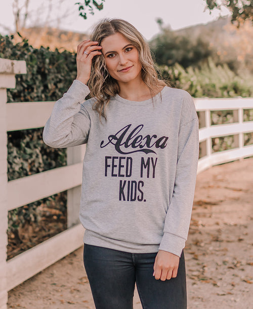 Alexa, Feed My Kids Long Sleeve Top (5165AP2)