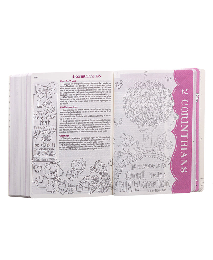 Pink Flexcover My Creative Bible for Girls - ESV Journaling Bible (ESV003)