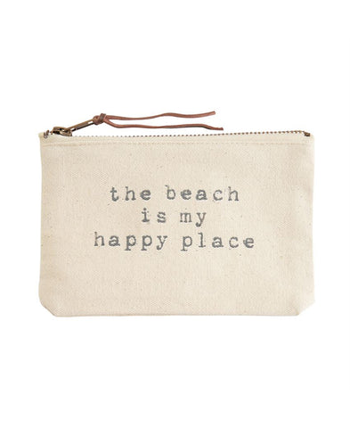 A Smile is the Best Makeup Canvas Clutch (BG362X009)