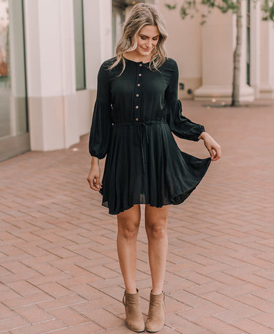 "Black ""Kayla"" Midi Pocket Skirt"