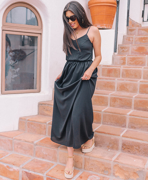 Black 'Edith' Maxi Dress