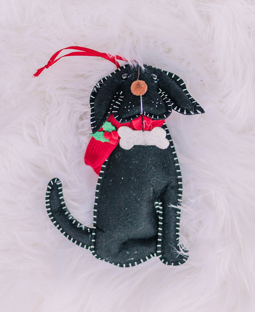 Black Dog Felt Ornament (3916457)