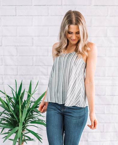 Natural Stripe Swing Tank (14787)