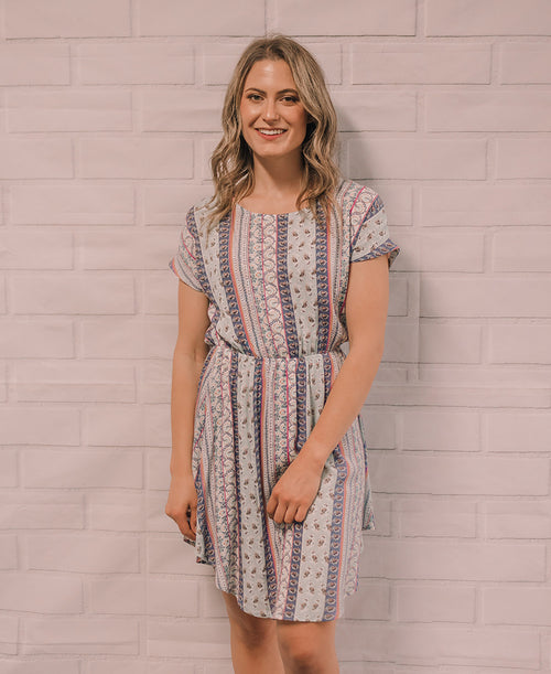 Multi Stripe 'Felicity' Scoop Dress (14873-55)