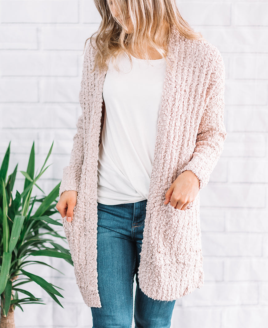 Nude Soft Open Pocket Cardigan (HR3272)