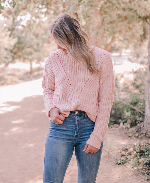 Blush Cozy Pullover Sweater (W9052)
