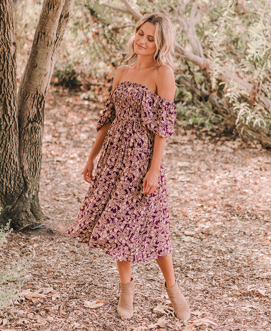 Black + Blush Tiered Floral Dress (D30597-1J)