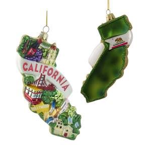California Map Ornament (C7549)