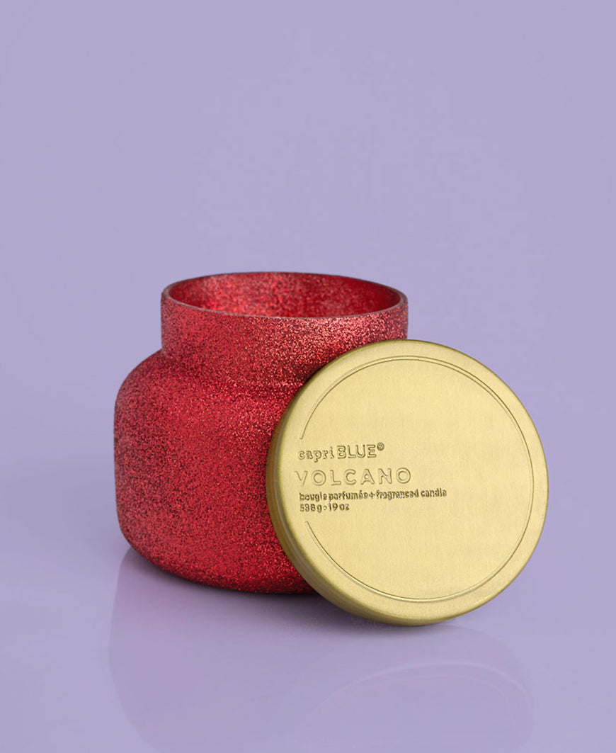 Volcano Red Glam Signature Candle, 19 oz
