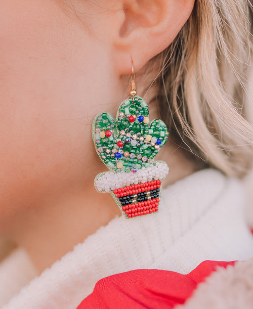 Christmas Cactus Earrings