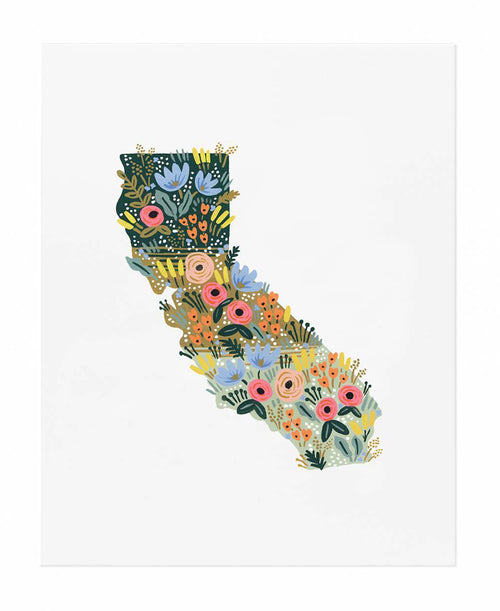 California Wildflowers Art Print by Rifle Paper Co.