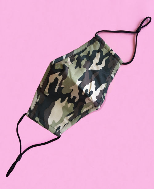 cute fashion camo print face mask