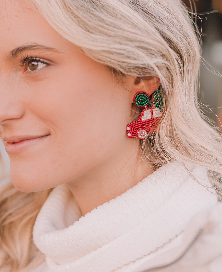 Christmas Car Earrings