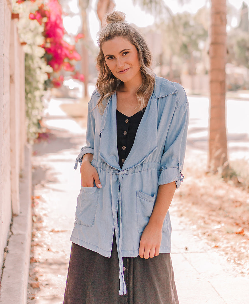 Chambray Lightweight Jacket (J8089-I)