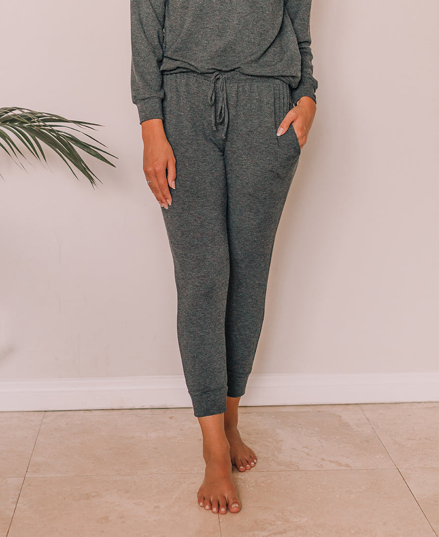 Charcoal French Terry Jogger Pants (C19P17)
