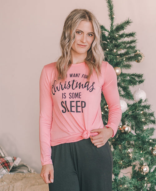 All I Want For Christmas is Some Sleep Graphic Tee (ST600-P4088)