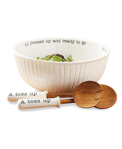 Ceramic Olive Boat & Tong Set