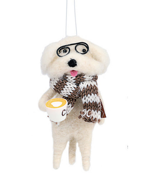 Dog with Glasses Ornament (2020190101)