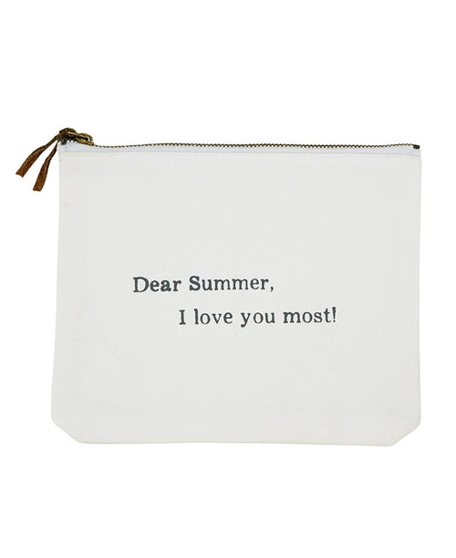 Dear Summer, I Love You Most! Canvas Clutch (G0219)