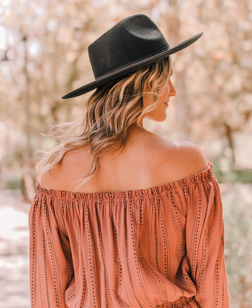 Dusty Rose Off-Shoulder Blouse (IT30415A)