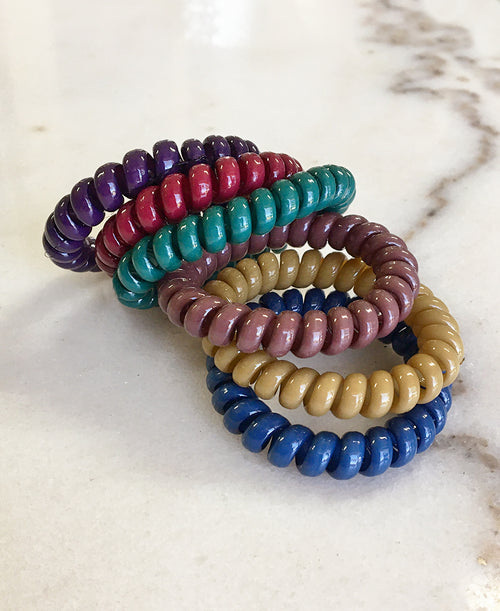 Fall Colors Cord Hair Tie Set