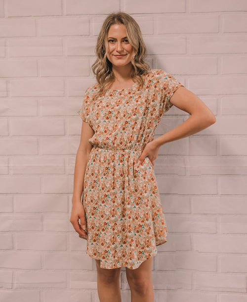 Natural Floral 'Felicity' Scoop Dress (14873-55)