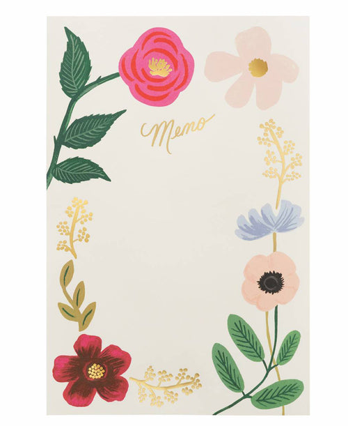 Wildflowers Memo Notepad by Rifle Paper Co.