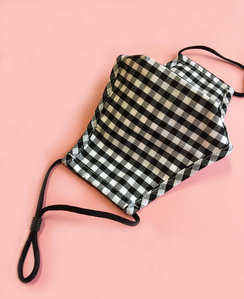 cute fashion gingham face mask