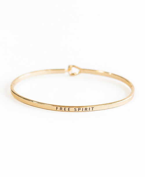 Gold Free Spirit Bangle (52-28)