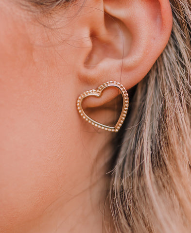 Gold Circle Hoop Earrings