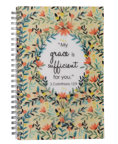 Grace Is Sufficient Floral Notebook