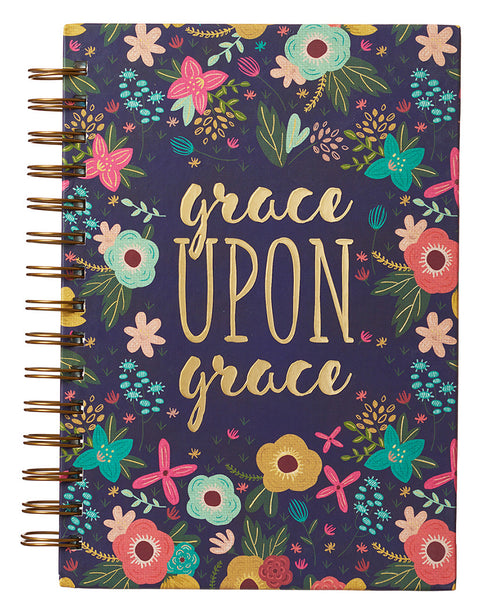 Grace Upon Grace Floral Journal